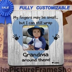 My Fingers May Be Small, Gift For Grandma, Gift For Mom, Gift For Dad, Fathers Day, Mothers Day, Child Frame, Custom Gift For Daddy Mommy