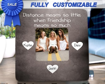 Unique Friend Gifts Personalized Picture Frame Three Best Friends Birthday Gift Christmas For Bff