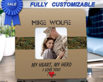 Military Boyfriend Gift One Day Closer Deployment Husband Wife Personalized Photo Frame Graduation