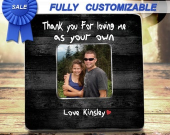 e8fd7740 Step Dad Gift Frame Bonus Dad Gift Frame Bonus Dad Fathers Day Stepdad  Frame Bonus Dad Birthday Gift Thank You For Raising Me As Your Own