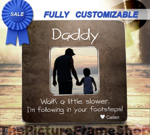 Father Day Daddy Frame Dad Gifts From Son Daughter
