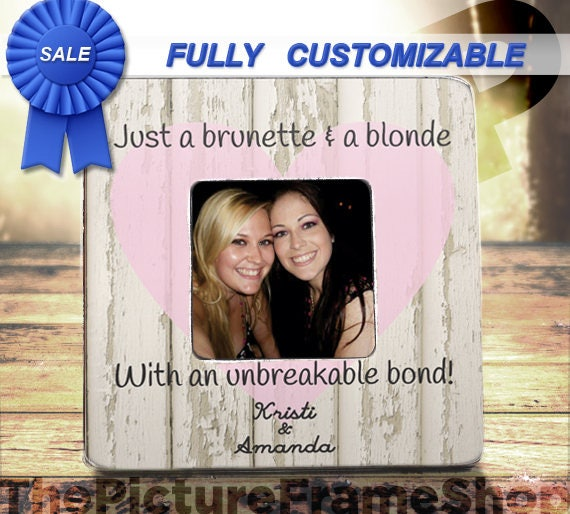 On Sale Best Friend Picture Frame Gift Best Friend Frame Gift Etsy