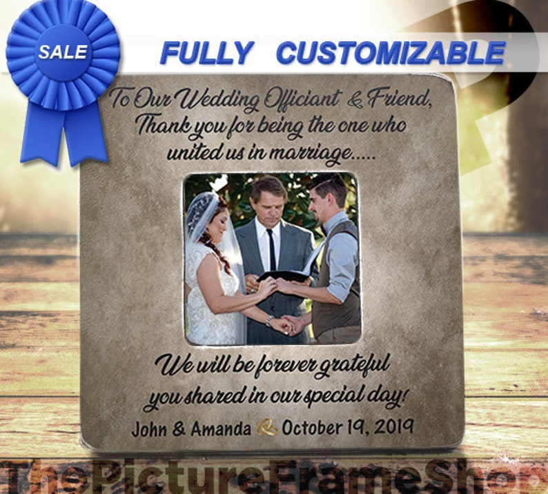 Wedding Officiant Gift Wedding Officiant and Friend Thank You image 0