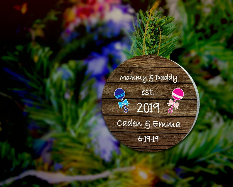 First Christmas As Mommy and Daddy ORNAMENT New Baby Ornament image 0