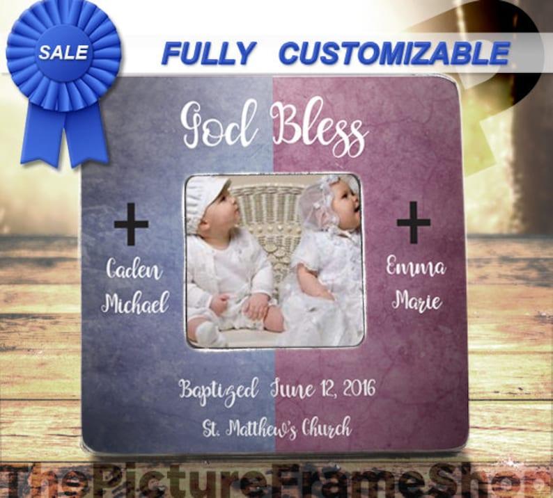 Twin Baptism Gift Twin Girls Baptism Twin Boy Baptism Twin image 0