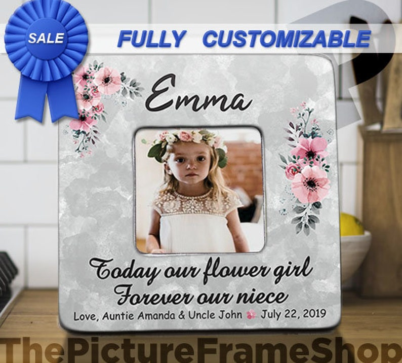Today Our Flower Girl Forever Our Niece Flower Girl Wedding image 0