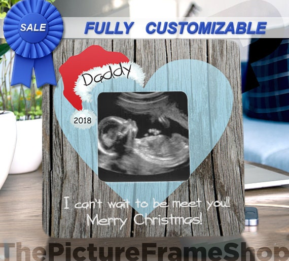 Ultrasound Christmas Frame Pregnancy Announcement For New Dad Etsy