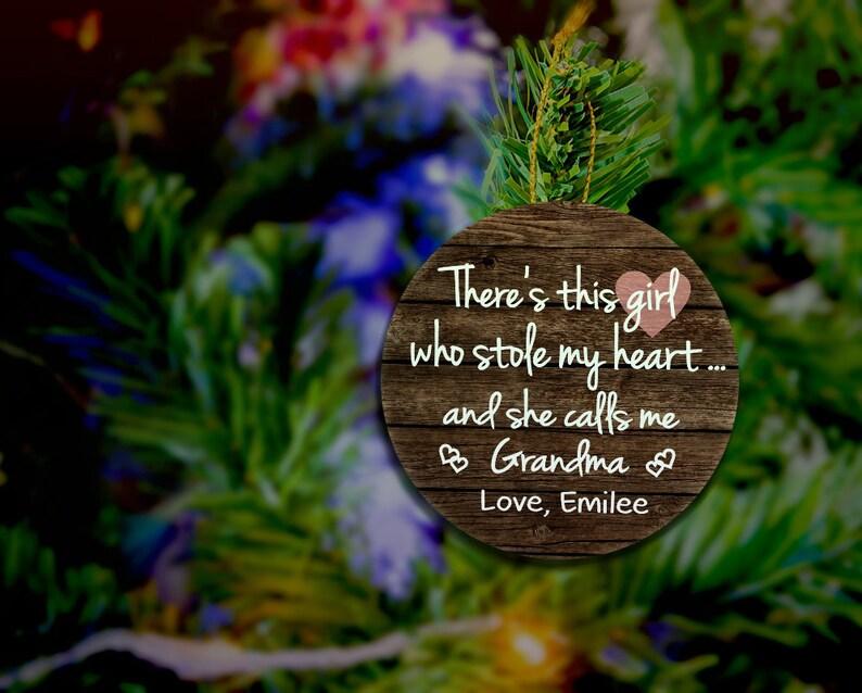 Grandma Christmas Ornament Wood Ornament Grandma Ornament image 0