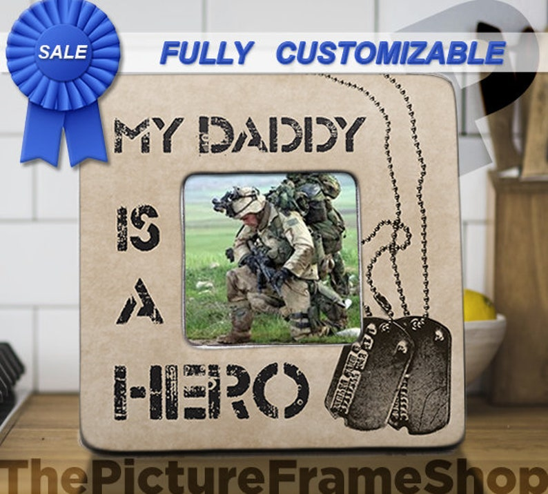 Military Daddy Picture Frame Dad Gift