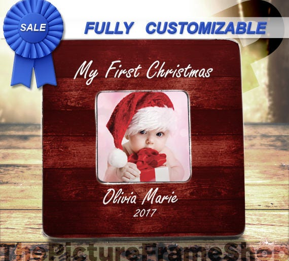 My First Christmas Personalized Baby First Christmas Frame Etsy