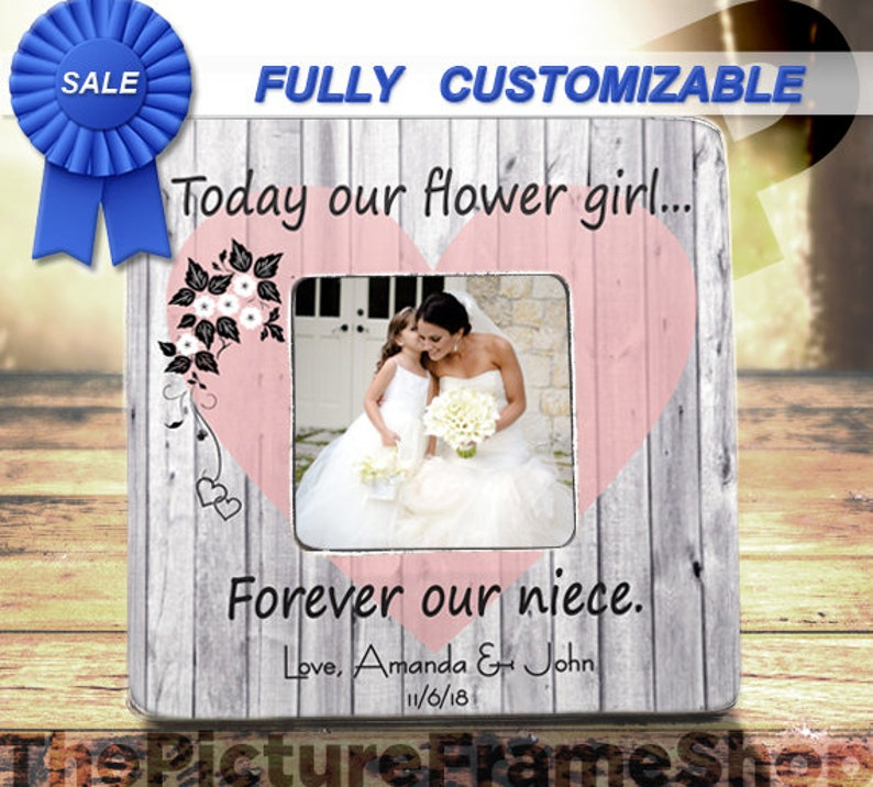 ON SALE Gift For NieceFlower Girl GiftToday Our Flower Girl image 0