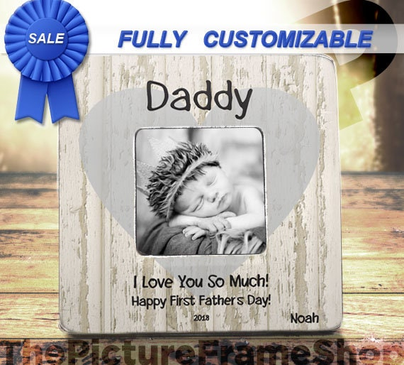Best Father\'s Day Gift 2018 First Fathers Day Custom Frame | Etsy