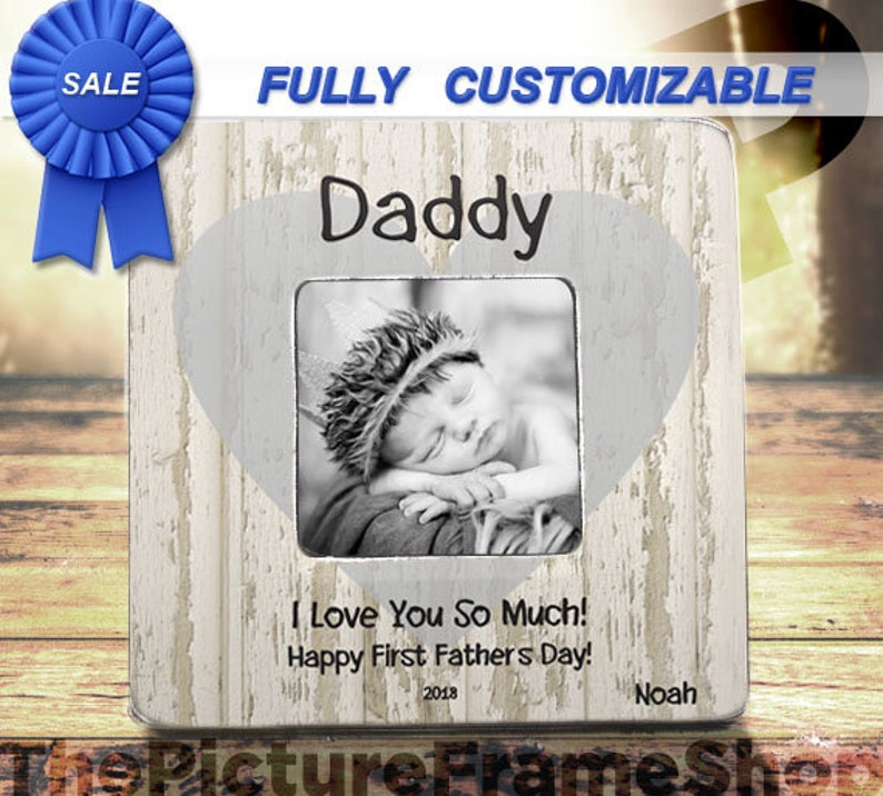 eddfa60f Best Father's Day Gift 2019 First Fathers Day Custom Frame | Etsy