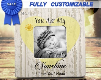 SALE Mothers Day Gift You are my sunshine frame daughter son gift mother gift mother daughter frame mother daughter gift mother son gift