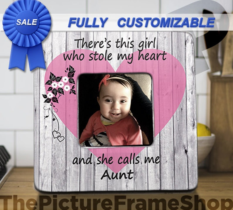 Best Auntie Gift Aunt and Niece Frame There's A Little image 0