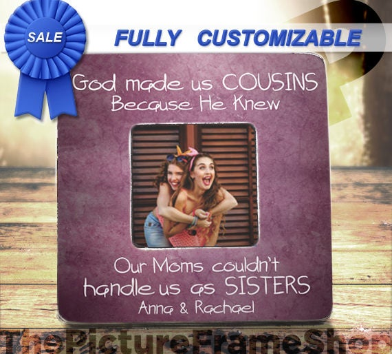 Gifts For Cousins Best Friends Cousins God Made Us Cousins Etsy