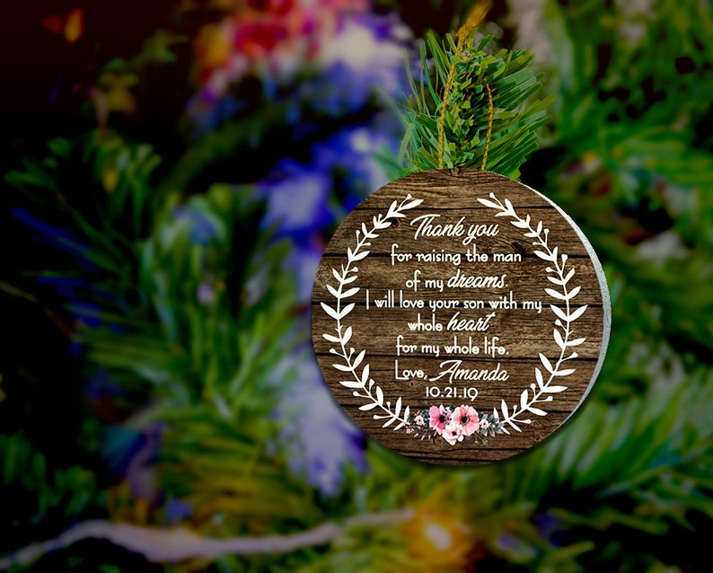 Thank you For Raising The Man of My Dreams Christmas Ornament image 0
