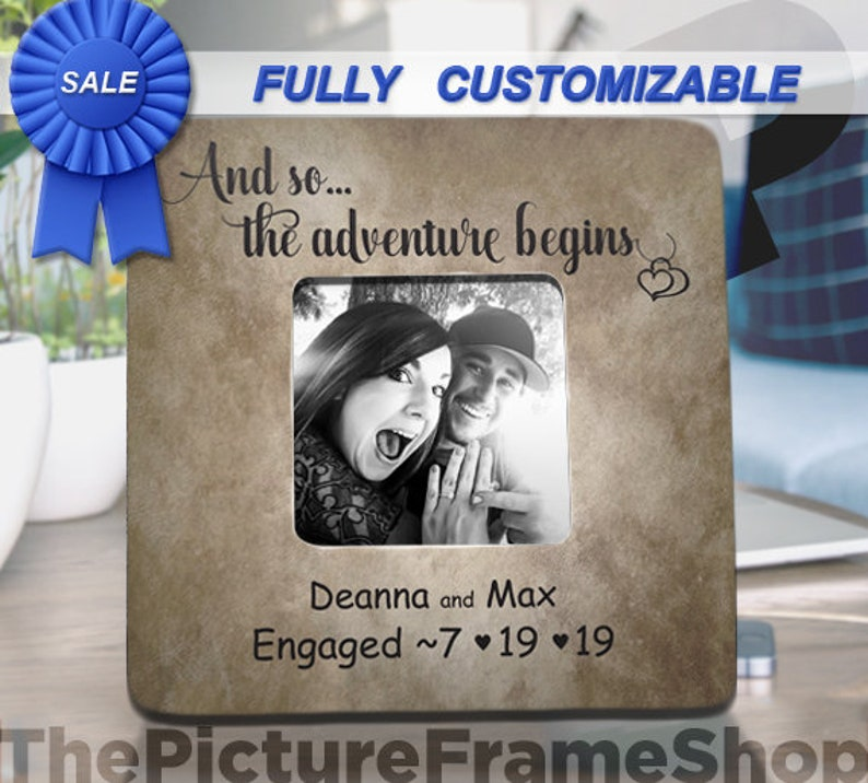 Engagement Gifts For Couple Personalized Engagement Party image 0