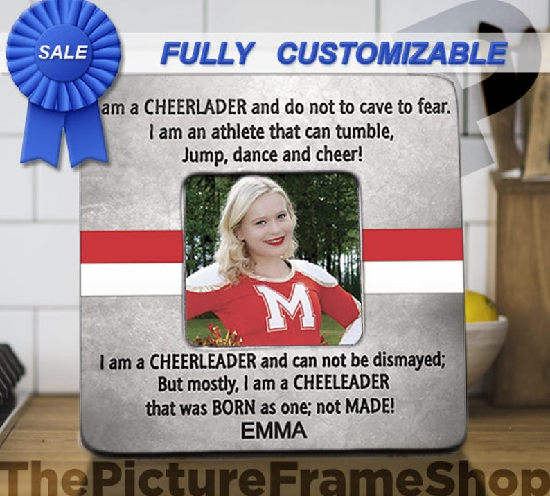Cheerleader Gift Custom Cheerleader Gift Cheerleader Frame image 0