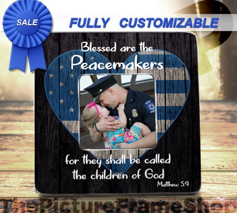16dad02d07d Blessed Are The Peacemakers Police Officer Gifts Matthew 5:9   Etsy