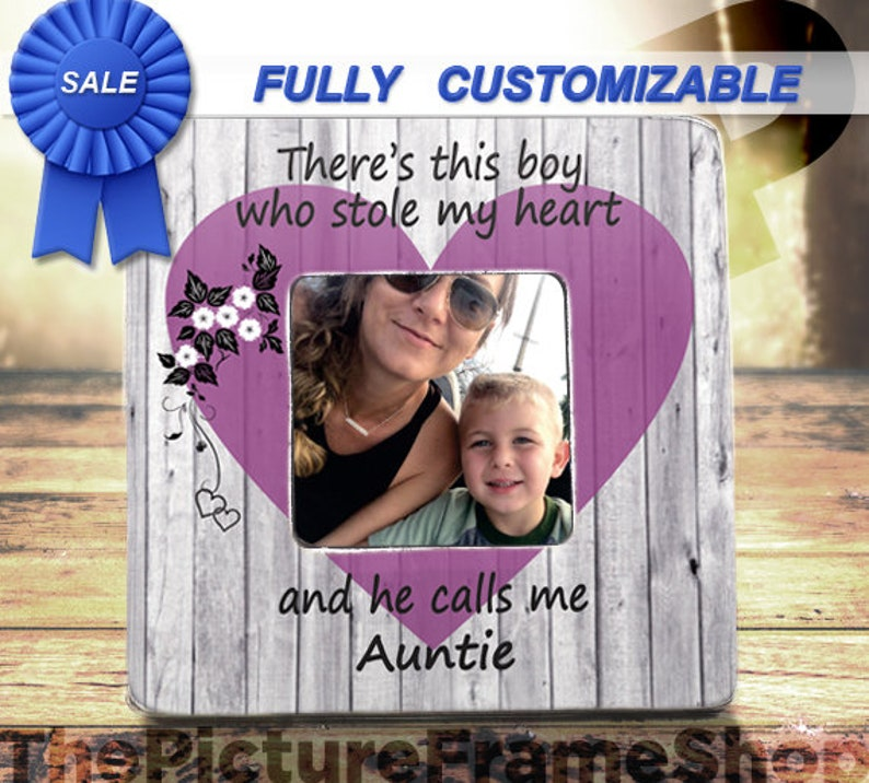 Best Aunt Gift Aunt & Nephew FrameTheres This  BoyHe Calls image 0