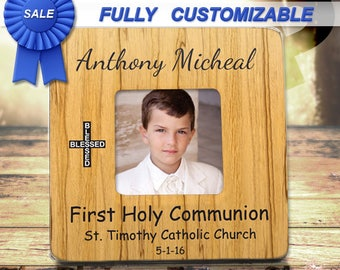 First Communion gift for boy First Holy communion Gift For Boy First Communion Frame First Eucharist gift for boy Sacrament of communion