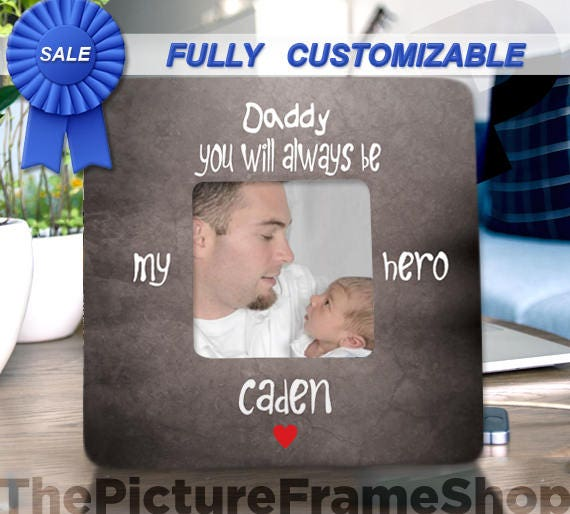 New Daddy Gifts Dad Frame Gift From Baby Is