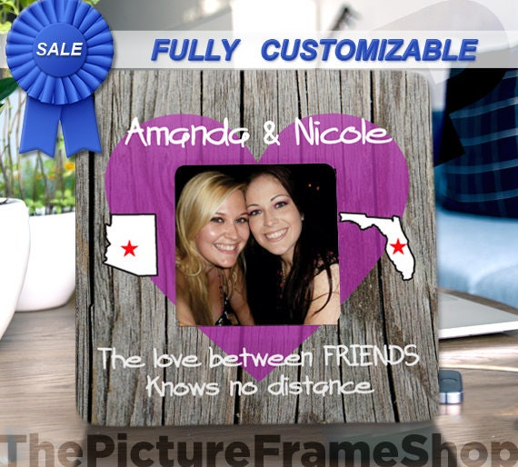 PHOTO INSERT Side by side or miles Personalised Friendship Birthday Gift