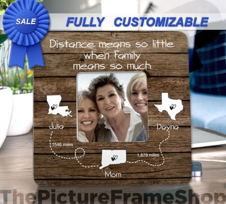 Three Sisters Three Friends 3 friends 3 Sisters Long Distance Family Frame Separated friends Three Best Friends Three States 3 States Gift