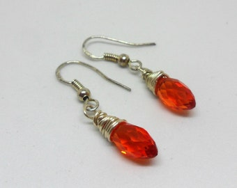 Beautiful Wire Wrapped Austrian Crystal Earrings
