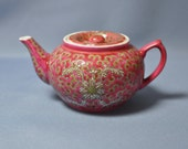 Fine and rare old Chinese famille rose red teapot with quot Jingdezhen -11 quot mark. DSC_00865