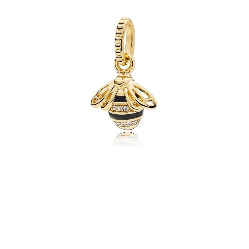 3df3a981e27f4 New Authentic Pandora Charm Bead SHINE Queen Bee Necklace Pendant 367075EN16