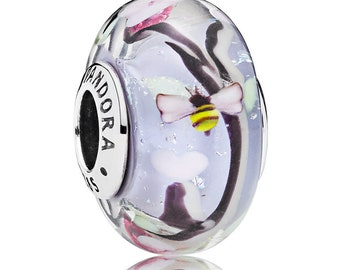 New Authentic Pandora Charm Bead Enchanted Garden Glass Element 797014