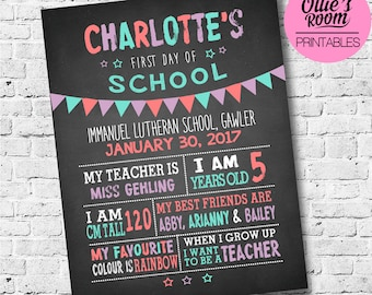first day of school sign template first day of chalkboard back to school sign first day of kindergarten first day printable