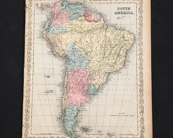 South america map | Etsy