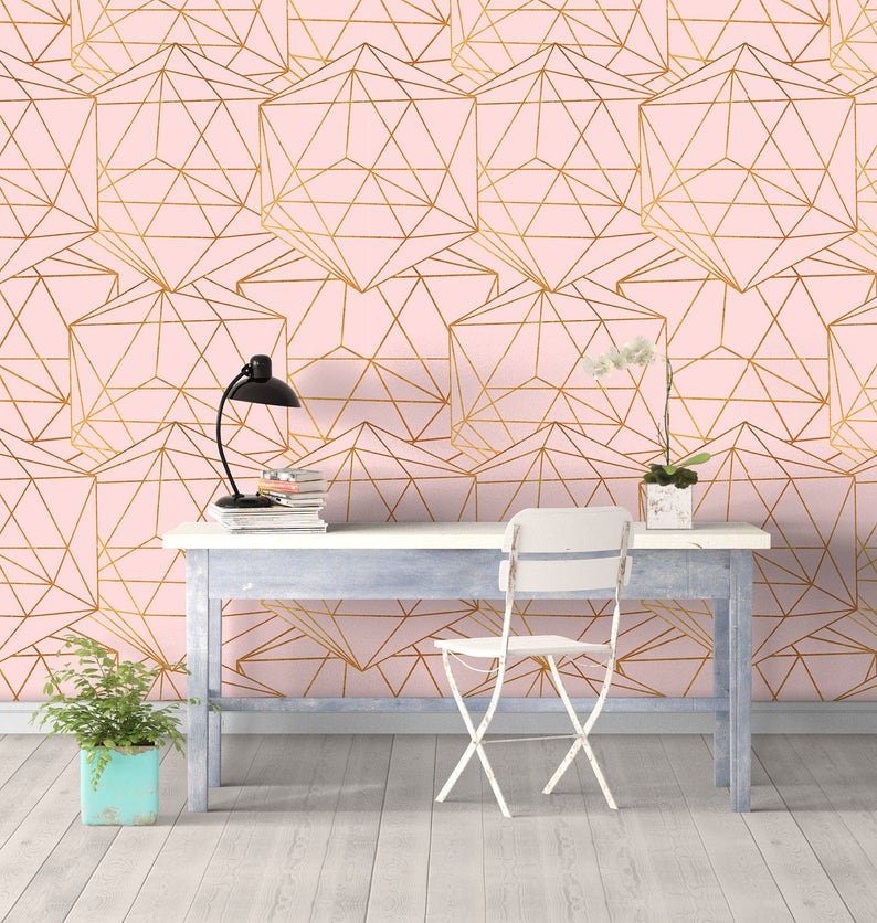 Geometric Glam Wall Covering Art  Removable Self-Adhesive image 0