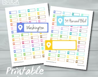 hour planner stickers printable time slot stickers for etsy