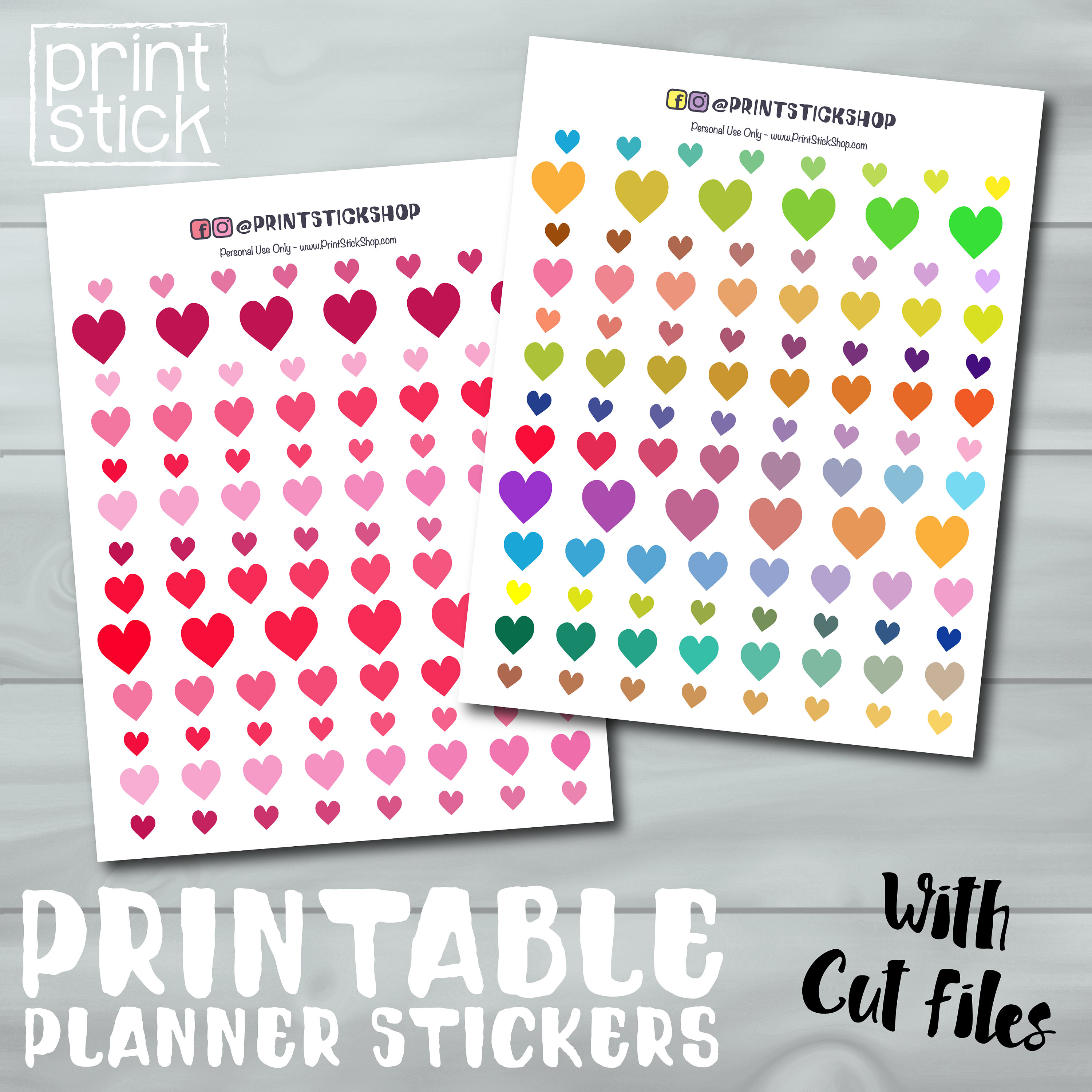 photo relating to Printable Stickers Sheets identify Middle Stickers - Printable Sticker Sheet - Planner Stickers for Erin Condren, Joyful Planner or any other