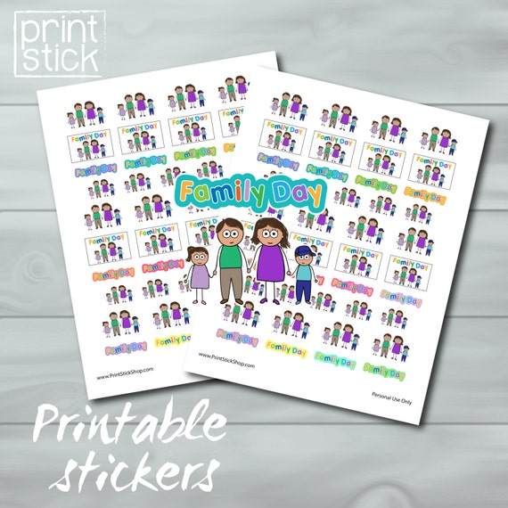 family day planner stickers printable jpg perfect for your etsy