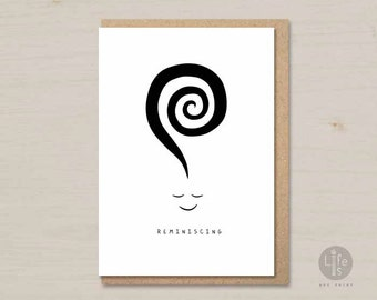 Thinking of you card - Reminiscing -  missing you card, printable card