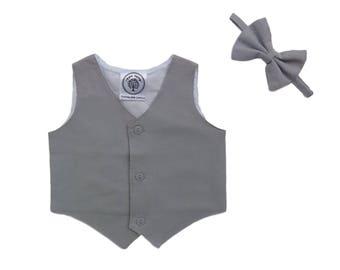 Boys Vest, Boy Waistcoat, ring bearer Vest, Pageboy Vest, Boys Suit Vest, Linen Vest, Cotton Vest, Toddler Boy Vest,Newsboy Vest,Boy Baptism