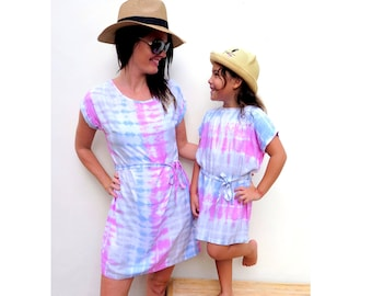 dc636c1996af86 Mommy and me Outfit,Mother daughter Outfit,mommy and me dress,mother  daughter matching dress,tie dye dress, Mom christmas gift, xmas gift