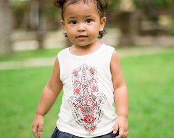 Organic Bamboo Hamsa T-Shirt - Toddler / Boy Shirt / Girl Shirt / Hamsa Top / Baby Top Hamsa / Bamboo baby clothes / Organic bamboo tops