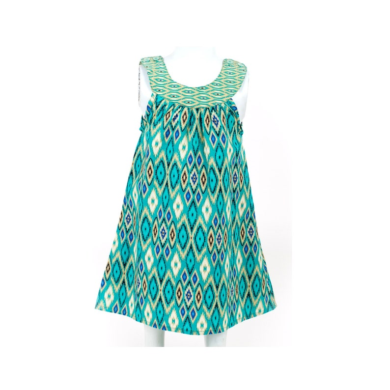 a960781804d Girl Batik Dress   Ikat Dress   Girls Dress   Baby Girl Dress