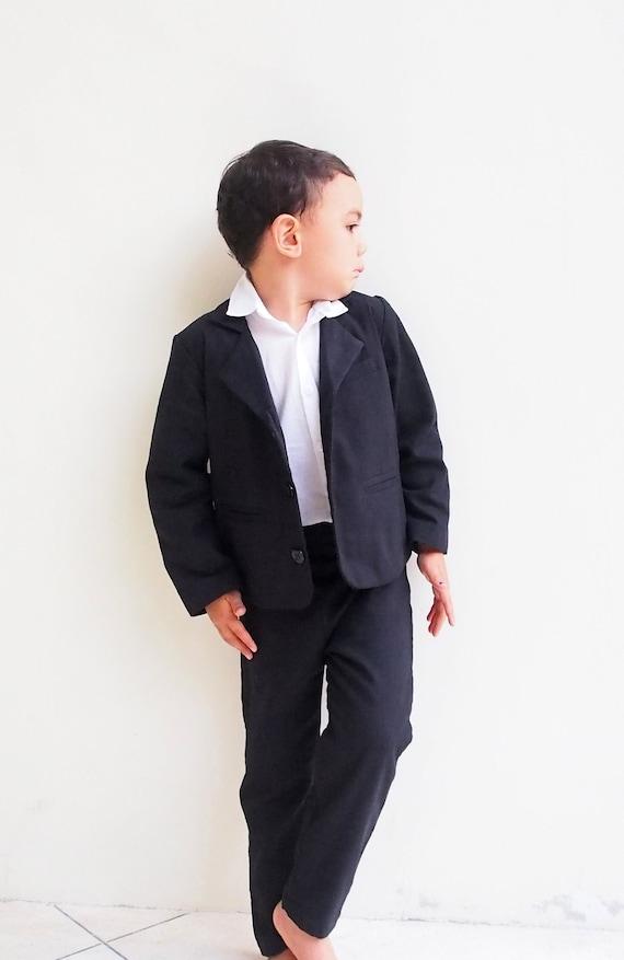 Jungen Anzug Schwarz//Grau Formelle Kleidung Party Hochzeit Taufe Größen 1-15