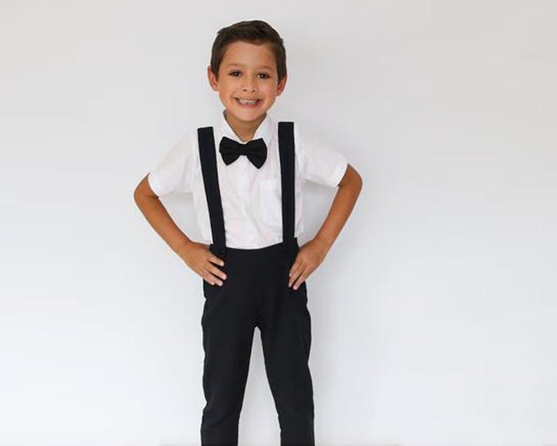 7b1fe14f4 3 pcs. Boy Linen Suit Black Boy Suit Christening Outfit   Etsy