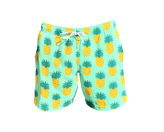Leaves Repeating On Mens Casual Printed Swim Trunks Quick Dry Board Beach Shorts with Pockets