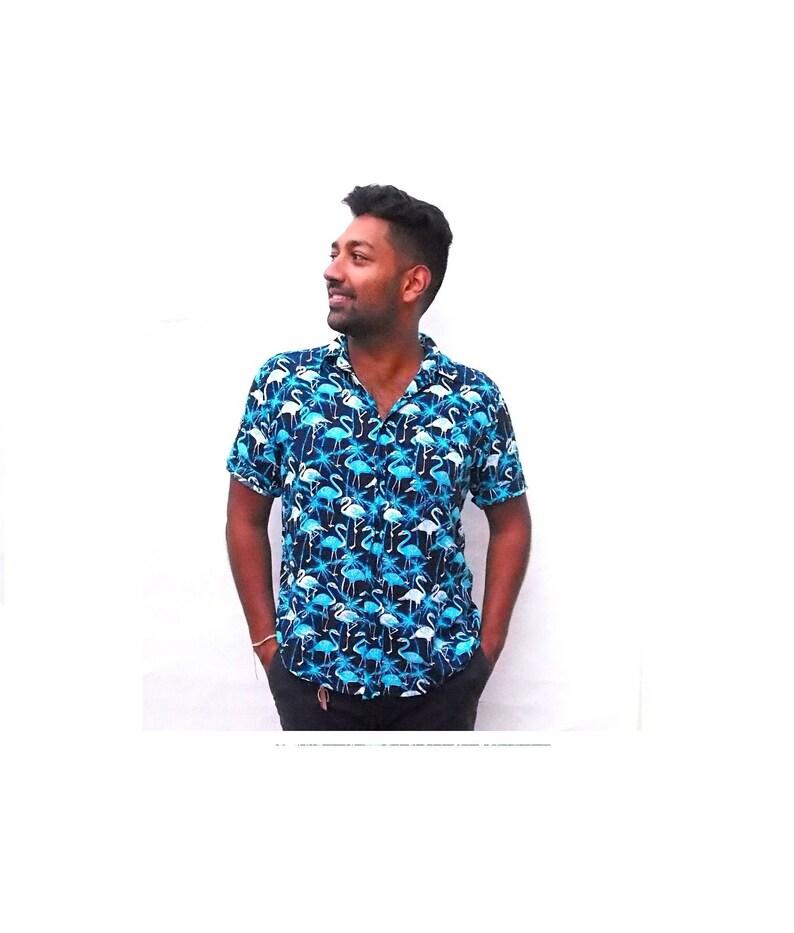 detailed look 89554 bbfea Fenicottero camicia, camicia uomo, camicia, camicia di partito, estate  camicia, camicia Casual, Button down Button up camicia, camicia a maniche  corte ...