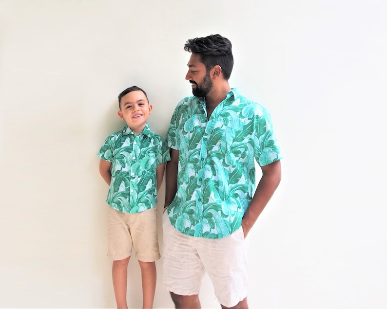 8465e7c0 Father and son matching shirts Tropical Father and Son | Etsy