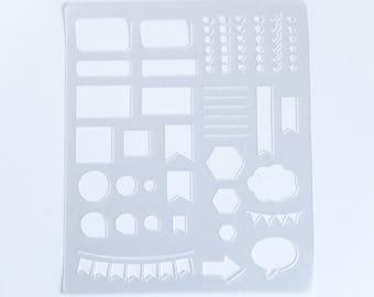 Erin Condren Stencil Sheet ACSSS